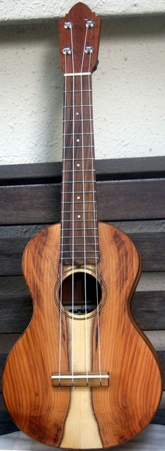 AJ Lucas Concert Yewklele made of Yew wood - made in Lincon, England