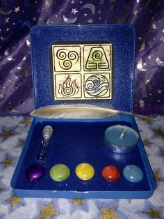 Elemental Travel Altar  Spirit Earth Air Fire and by CraftyOlBats