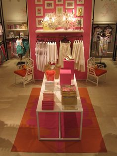Inside of lilly pulitzer store