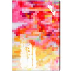 Artwork 'Brokada' features print of Pink Abstract. Unique Paint with vivid Dark Pink hues make this Modern style the perfect decor for your home or office. Oliver Gal was voted Best in Wall Art! Pink Abstract, Abstract Canvas Art, Canvas Art Prints, Canvas Wall Art, Fine Art Prints, Oliver Gal Art, Paint Themes, Thing 1, Modern Art