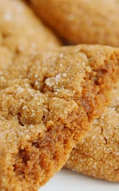 BEST Soft Gingerbread Cookies ***Will have to try these -- I'm on a quest for the best in the world of soft ginger cookies