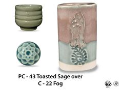 This 100% mixable celadon glaze is a dark, glossy blue-gray that pools and accents textured ware like the ancient glaze it is created to imitate.    Due to the powdered nature of the materials involved with the dry-mix dipping buckets of this product, their respective health information and labels differ from the brushing glazes.
