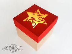 Schoki-Verpackung (passend für 4 hanuta) – Sternvariante – Miri's Kreativblog