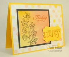 Peaceful Petals and Watercolor Wonder designer paper from Stampin Up make an awesome combo for beautiful cards! by Patty Bennett, www.PattyStamps.com