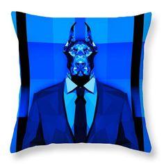 Doberman Throw Pillow Living Room Pillows Boys Room Pillows Cool Pillow Designs by Filip Aleksandrov
