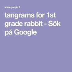 tangrams for 1st grade rabbit - Sök på Google