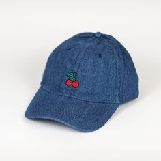 official photos c039f dfc48 Denim Blue Cherry Berry Fruitl Baseball Cap for only  8.99 Cheap Baseball  Caps, Baseball