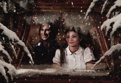 Christmas edit of Rumple and Belle by FrivolousWhim :)