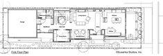 Craftsman Style House Plan - 3 Beds 3 Baths 2460 Sq/Ft Plan #454-12 Main Floor Plan - Houseplans.com