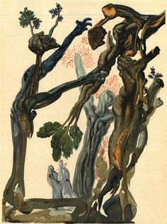 """The Wood and the Suicide,"" Salvador Dalí"