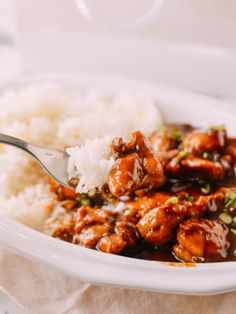 Bourbon Chicken - to make Lower Carb use Swerve, Stevia and a little Molasses to taste instead of dark brown sugar - a kind of Cajun and Asian hybrid dish that's evolved over the years in Chinese take-out restaurants and local mall food courts. Wok Of Life, Chicken Chunks, Boneless Skinless Chicken Thighs, Chicken Tenders, Bourbon Chicken, Chili Oil, Pork Belly, The Fresh, Deserts