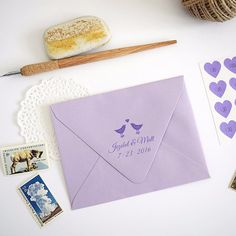 Lovebirds Wedding Save the Date Custom Rubber Stamp #custom #stamp #stationery #wedding #address #savethedate