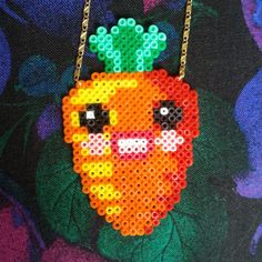 Miss Carrot Necklace hama beads design by tructoc