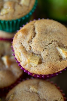 Apple Cinnamon Muffins | tablefortwoblog.com