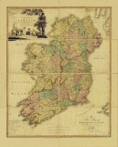 Lovely old map of Ireland. Source: http://catherinecombs.tumblr.com/post/22138666137