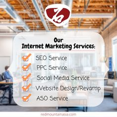 We, at RedMountain Asia, provide you a full set of professional Internet Marketing Services, including SEO, PPC, Social Media Service, Website Design and Revamp, as well as ASO. Are you interested in any of them? let us know! To learn more about our Internet Marketing Services in Hong Kong, visit our website, or email; enquiry@redmountainasia.com App Marketing, Marketing Approach, Digital Marketing Strategy, Internet Marketing, Social Media Marketing, Online Marketing Consultant, Online Marketing Services, Social Media Services, Aso
