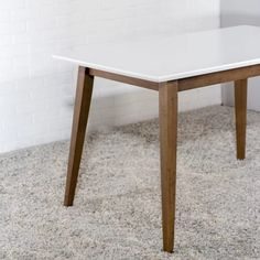 Lowest price online on all Mid-Century Modern Aven Walnut/White Top Dining Table - Dining Table Sale, Mid Century Dining Table, Solid Wood Dining Table, Table And Chairs, Dining Room Furniture, Modern Furniture, Furniture Ideas, Midcentury Modern Dining Table, Dining Table Dimensions