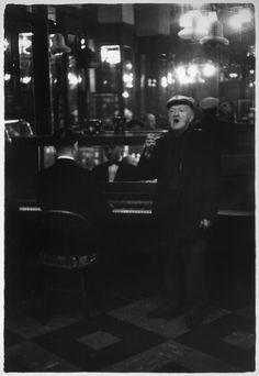 Man singing in O'Rourke's Bar, Brooklyn, c. 1960.