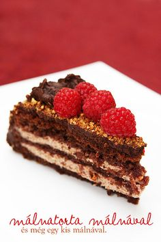 Málnatorta málnával, és még egy kis málnával by csokiparany, via Flickr