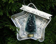 Ornament - in a Vintage Jello Mold Tin