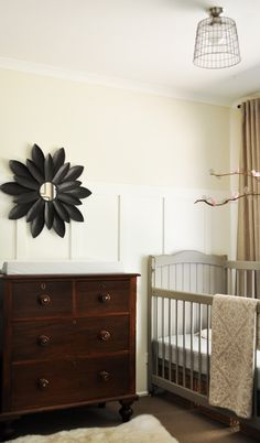 sophisticated baby's rooms.  i love this! what's with those stupid ducks, anyway? Let's teach them some taste from the get go!