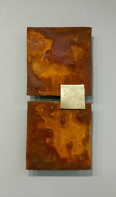 Rust and Gold by Lori Katz: Ceramic Wall Sculpture available at www.artfulhome.com