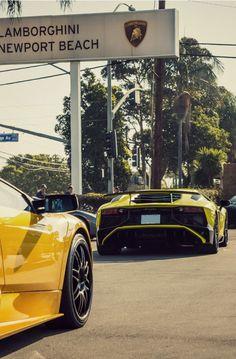 """dreamer-garage: """"  Murcielago x Aventador SV  """""""