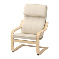 IKEA POÄNG Children's armchair Birch veneer/almås natural Easy to keep clean since the cover can be machine washed.