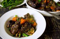 Ingredients 800 g beef cheeks. 1 tablespoon olive oil. 200 g portobello mushrooms. 1 carrot. 2 celery stalks. 1 brown onion. 2 cloves garlic. 3 bay leaves. 1 teaspoon each of fresh thyme leaves and…
