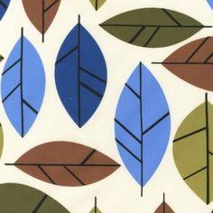 Stockholm Leaf fabric from Fabric Rehab