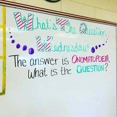 What's the Question WEDNESDAY