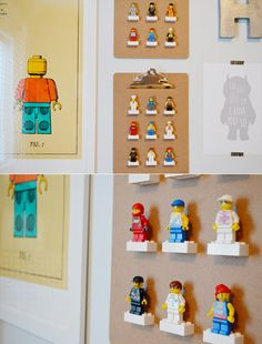 Lego character display clipboards