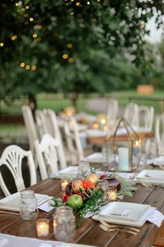 Farm-Fresh Dinner Reception   See more of the wedding on #SMP Weddings: http://www.stylemepretty.com/2013/12/10/littleton-colorado-wedding-from-laura-murray-photography/   Laura Murray Photography