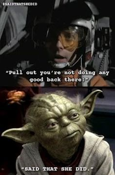 old, wise, and witty yoda hehe  @OBrian Tallent Omg....best...Thing....EVER!!!!! lol.