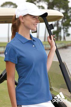adidas - Golf Ladies ClimaLite Pique Polo www. Polo Shirt Women, Pique Polo Shirt, Golf Shirts, Sports Shirts, Embroidered Polo Shirts, Golf Shop, Great Mothers Day Gifts, Adidas Golf, Golf Fashion