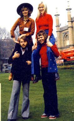 """ABBA in Brighton. """"Waterloo Time"""" 1974"""