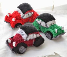 New 2CV Cars Knitted