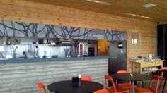 Stokkoya restaurant interior, Norway Norway, Conference Room, Restaurant, Spaces, Sea, Interior, Table, Furniture, Home Decor