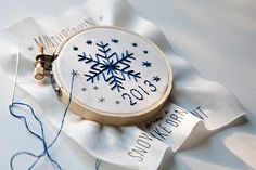 Holiday Stitching - free snowflake ornament pattern on the blog!