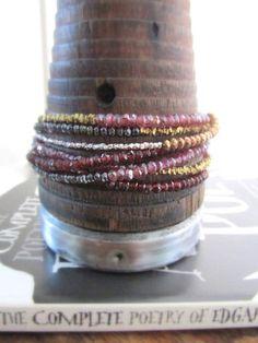 january birthstone bracelet, garnet bracelet, stack bracelet, january bracelet, january jewelry, january gift, january birthday