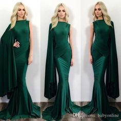 Dark Green Mermaid Evening Dresses One Shoulder Stylish Formal Celebrity Party Wears Floor Length Prom Dresses Ba0787 Beaded Evening Dresses Best Formal Dresses From Babyonline, $104.43| Dhgate.Com