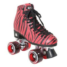 Moxi Ivy Zoo Outdoor Roller Skates - Red and Black Zebra Stripe with Red Moxi Juicy Cherry Stain Wheels by Riedell. $179.00. Moxi Ivy Zoo Outdoor Roller Skates - Red and Black Zebra Stripe with Red Moxi Juicy Cherry Stain Wheels made by Riedell - These red zebra print vinyl skates are vegan friendly and ready to roll. They come with Moxi Gummy Cherry Stain outdoor wheels and can be used for indoor or outdoor skating. The Moxi Ivy Zoo Skates are the perfect price...