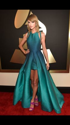 Taylor swift at the 2015 Grammys. She took the crown for best dressed in my opinion.