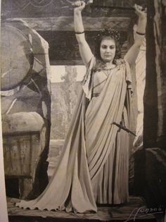 Callas as Norma at Teatro Massimo Bellini, Catania, March 1950