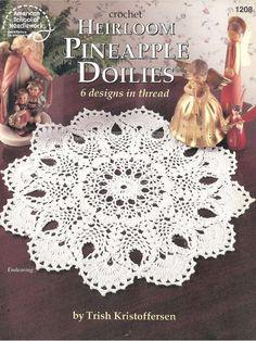 Crochet Heirloom Pineapple Doilies (digital .PDF) by Patricia Kristoffersen (six patterns); home decor; Victorian
