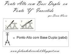 FALANDO DE CROCHET: CASEADO DE CROCHE COM PASSO-A-PASSO / EM PONTO ALTO COM DUAS BASES