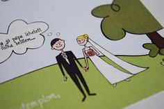 """Check out my @Behance project: """"Wedding card - illustration"""" https://www.behance.net/gallery/54155505/Wedding-card-illustration"""