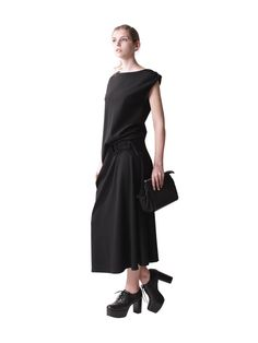 LOOK 4 - FEMME LOOK BOOK - Yohji Yamamoto -- the dress is nice but shoes & model are awful -- get another stylist