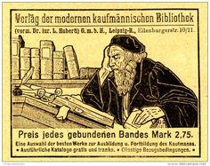 Original-Werbung/ Anzeige 1905 - VORM. HUBERTI / MODERNE KAUFMÄNNISCHE BIBLIOTHEK - ca. 75 x 60 mm