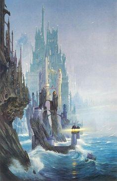 Castle on the coast Pathfinder PFRPG DND D&D d20 fantasy Les arts Illustration d imaginaire Château fantastique